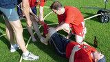 Первая помощь при кровотечении из раны на ноге